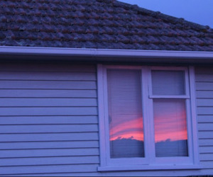 house, pink, and window image