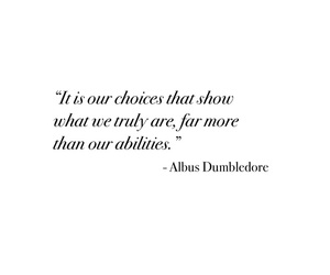 choices, dumbledore, and harrypotter image