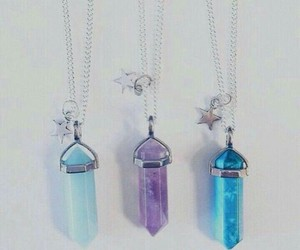 crystal, necklace, and necklaces image