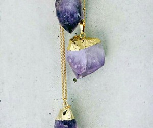 crystal, necklaces, and crystal necklace image