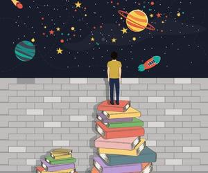 book, art, and planet image