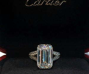 cartier, ring, and diamond image