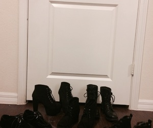 black shoes, booties, and wedges image