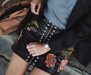 leather and skirt image