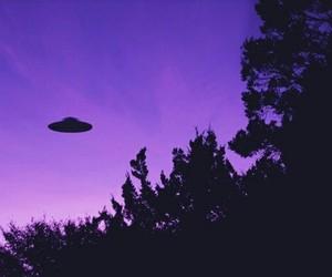 Purple Alien And Sky Image