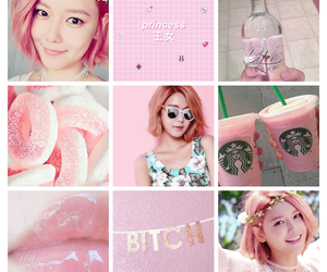 moodboard, pink, and snsd image