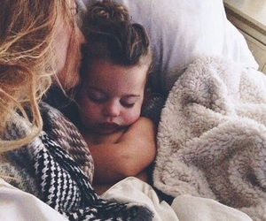baby, cute, and mom image