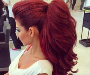 beautiful, red, and hairs image