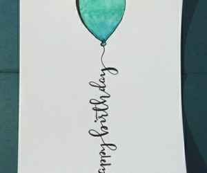 balloon, birthday, and happy birthday image