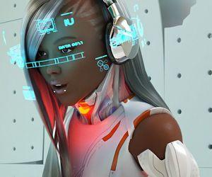 cyberpunk, futuristic, and mavi image
