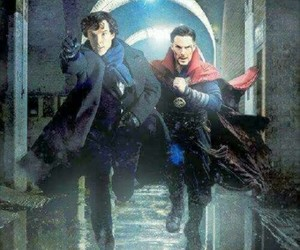 doctor, holmes, and sherlock image