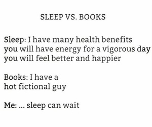 books, sleep, and fandom image