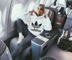 adidas, girl, and travel image