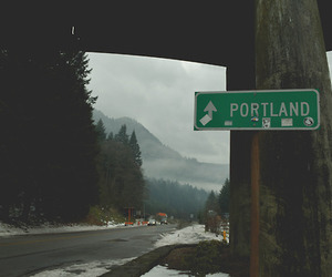 portland, nature, and road image