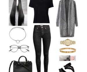 black jeans, booties, and clothes image