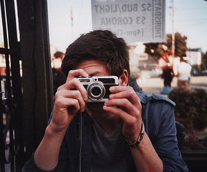 boy, camera, and vintage image