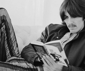 70s, george harrison, and reading image