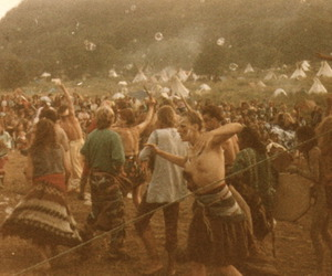 hippies, woodstock, and bubbles image