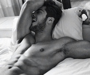 bed, fitness, and guy image