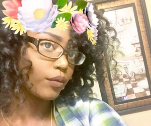brown skin, filter, and glitter image