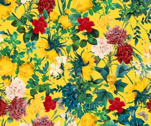 flowers, patterns, and yellow image