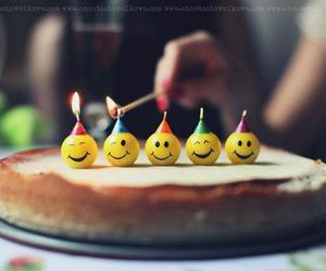 cake, smile, and candle image