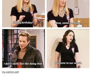funny, 2 broke girls, and blow image