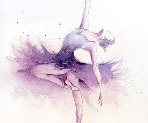 drawing, art, and ballet image