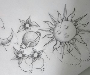 draw, sun, and univers image