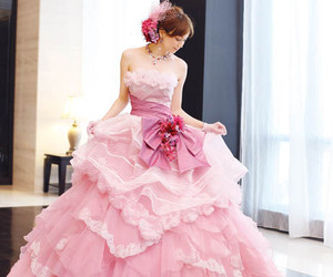 cute, dress, and pink image