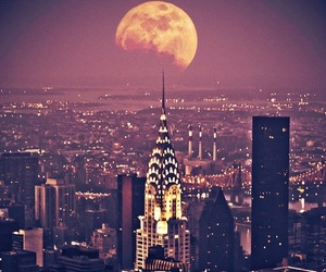 moon, city, and new york image