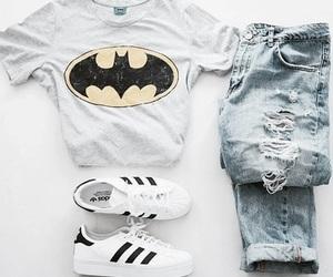 fashion, adidas, and batman image