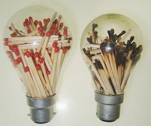 light, match, and grunge image