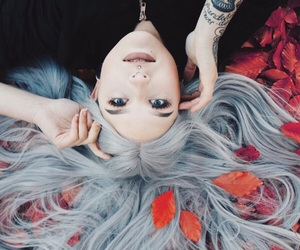autumn, eyes, and fall image