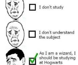 hogwarts, harry potter, and funny image