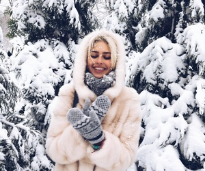 beauty, christmas, and coat image