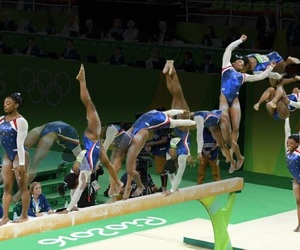 gymnast, gymnastics, and simone image