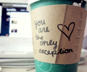 love, coffee, and exception image