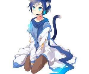 kaito, vocaloid, and anime boy image