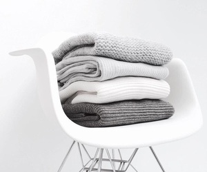 white, chair, and grey image