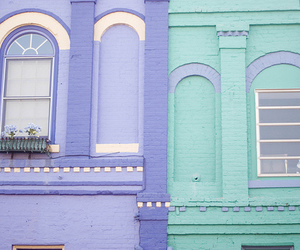pastel, purple, and house image