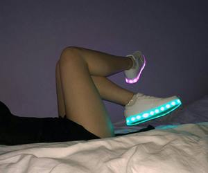 lights, purple, and light up shoes image