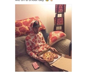 funny, pizza, and food image