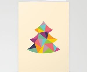 christmas tree, cute, and christmas card image