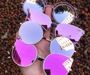 glasses, sunglasses, and pink image