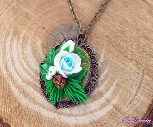 etsy, christmas necklace, and blue jewelry image