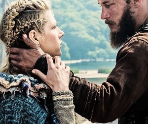 vikings, lagertha, and love image