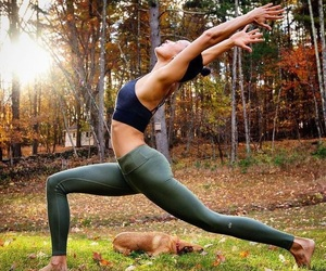 fitness, yoga, and fitspo image