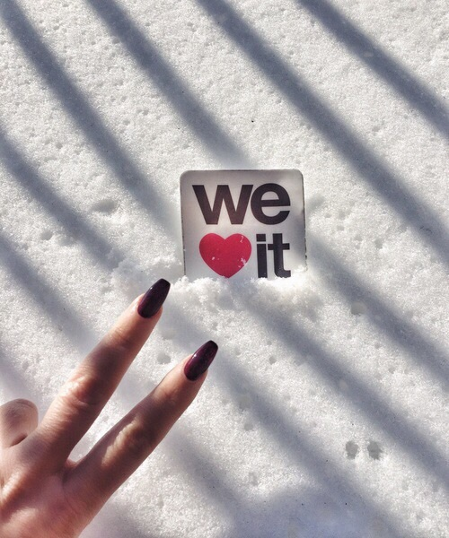 snow and ❤ image