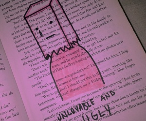 book, cry, and page image